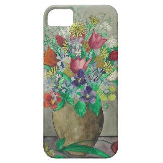 Old German Watercolor Flower Painting 1900 - 1945 iPhone SE/5/5s Case