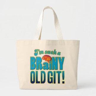 Old Git Brainy Brain Tote Bag