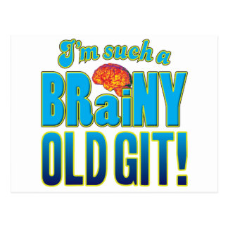 Old Git Brainy Brain Postcard