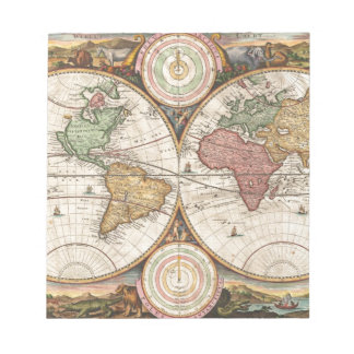 Old global map notepad