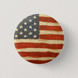 American Flag Buttons 2.25 Inches Diameter Patriotic American Flag Decorations for 4th of July Veterans Day Round USA Pins Election Day 12-Count USA Pinback Buttons
