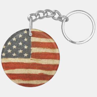 Old Glory American Flag Keychain