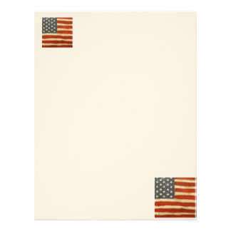 Old Glory American Flag Letterhead