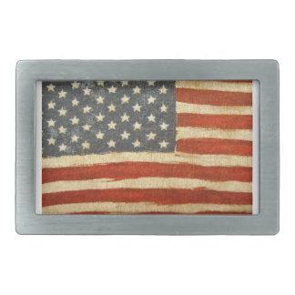 Old Glory American Flag Rectangular Belt Buckle