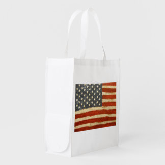 Old Glory American Flag Reusable Grocery Bag