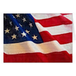 Old Glory American Flag Ripples Card