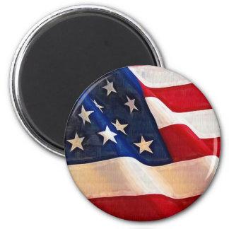 Old Glory American Flag Ripples Fridge Magnet
