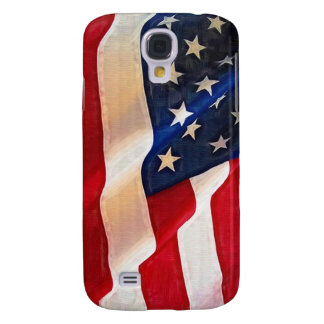 Old Glory American Flag Ripples Samsung Galaxy S4 Cases