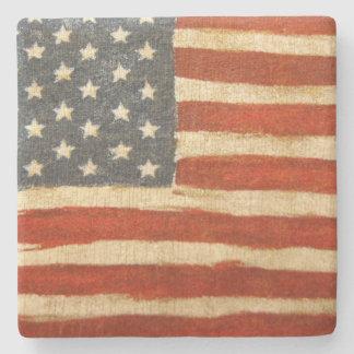 Old Glory American Flag Stone Coaster