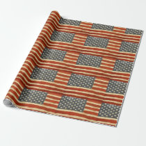 Old Glory American Flag Wrapping Paper