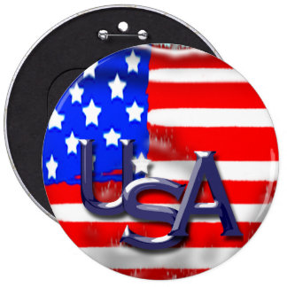 Old glory pinback button