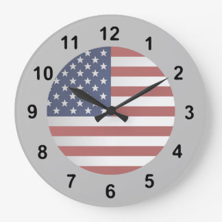 Old Glory Choose your background color. Wallclock