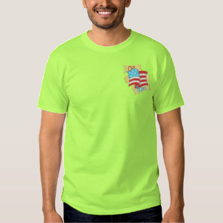 Old Glory Embroidered T-Shirt