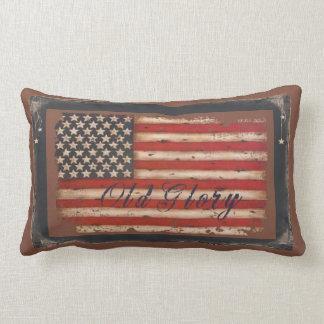 Old Glory Flag Lumbar Pillow