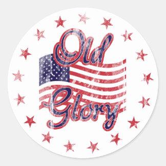 Old Glory Flag Sticker