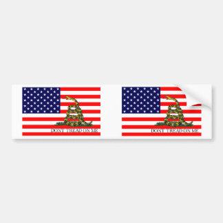 Old Glory / Gadsden Flag Combo Bumper Sticker