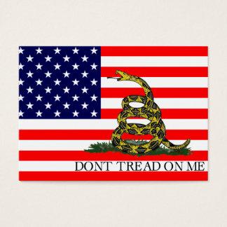 Old Glory / Gadsden Flag Combo Business Card