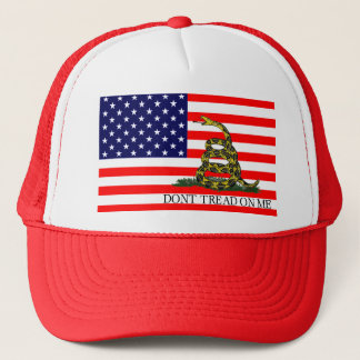 Old Glory / Gadsden Flag Combo Trucker Hat