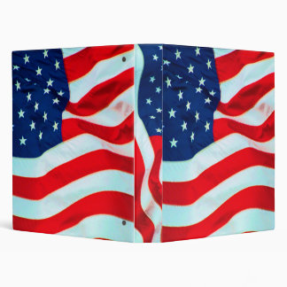 Old Glory In The Breeze 3 Ring Binder