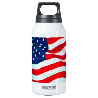 Old Glory In The Breeze Thermos Bottle