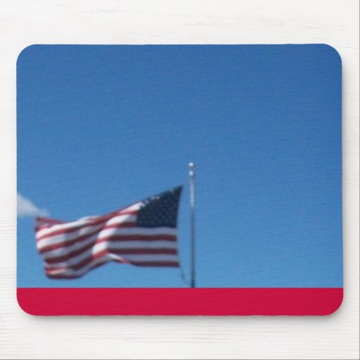 Old Glory In The Wind Mouse Pads