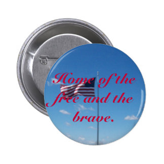 Old Glory In The Wind Pinback Button