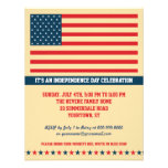 Old Glory Independence Day Party Vertical Custom Invite