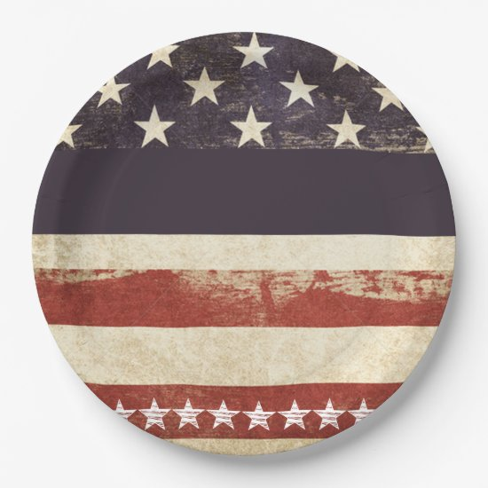Old Glory July 4th Party Paper Plates