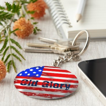USA Themed Old Glory Keychain