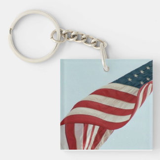 Old Glory Magnet Keychain