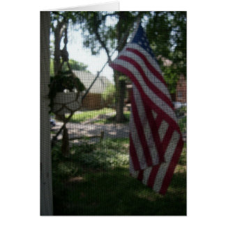 Old Glory on the front porch Card