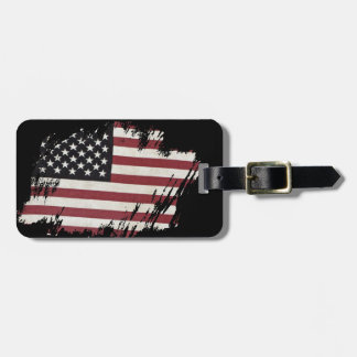 Old Glory Patch Luggage Tag