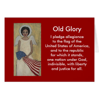 Old Glory Patriotic Blank Card