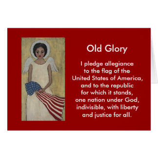 Old Glory Patriotic Card