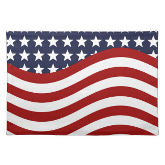 OLD GLORY! (patriotic flag design) ~ Cloth Placemat