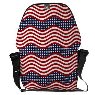 OLD GLORY! (patriotic flag design) ~ Courier Bag