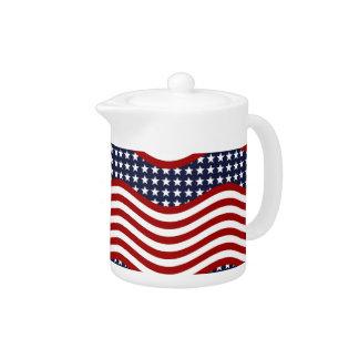 OLD GLORY! (patriotic flag design) ~ Teapot