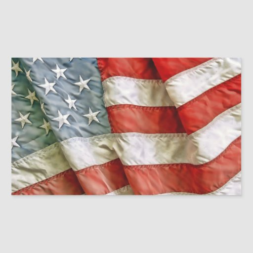 Old Glory Rectangle Sticker