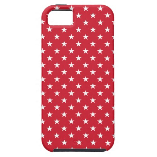 Old Glory Red Stars Patterned iPhone 5 Case