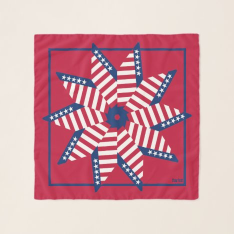 Old Glory Red White Blue Square Chiffon Scarf