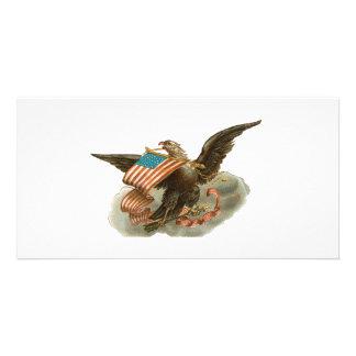 Old Glory s Eagle Photo Greeting Card