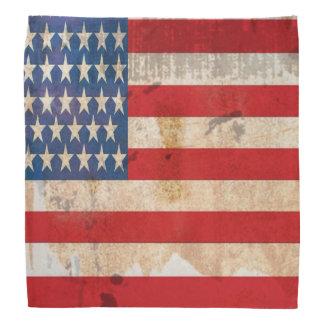 Old glory Stars Stripes distressed american flag Bandana