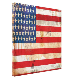 Old glory Stars Stripes distressed american flag Canvas Print