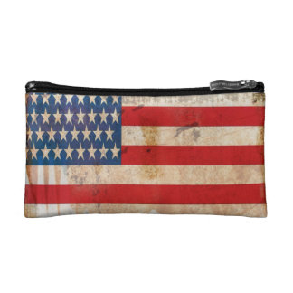 Old glory Stars Stripes distressed american flag Cosmetic Bag