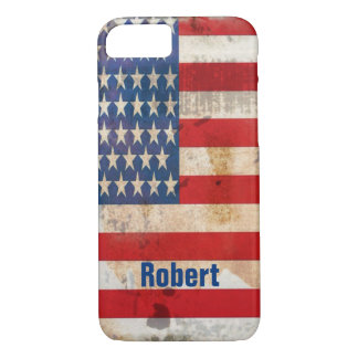 Old glory Stars Stripes distressed american flag iPhone 8/7 Case
