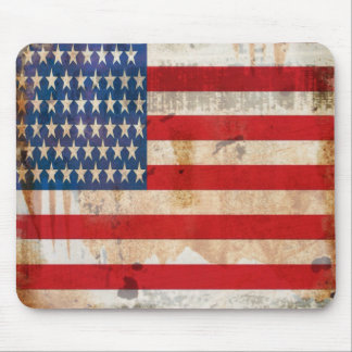 Old glory Stars Stripes distressed american flag Mouse Pad