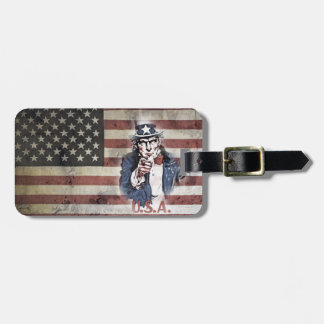 Old Glory & Uncle Sam...edit on back. Luggage Tag