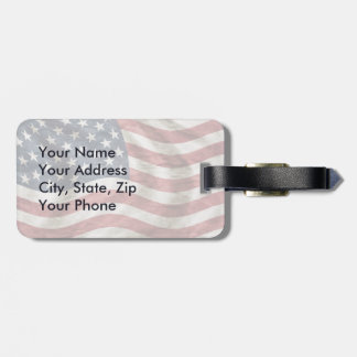 Old Glory US Flag Red, White and Blue Luggage Tag