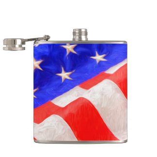 Old Glory Vinyl Wrapped Flask, 6 oz. Flask