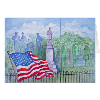 Old Glory Waves for Freedom Card